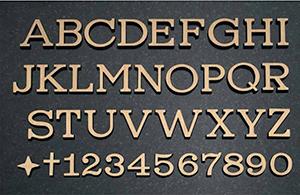 hautakiven koriste kirjain