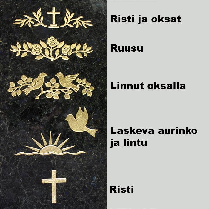 kullattu hautakivien kaiverrus