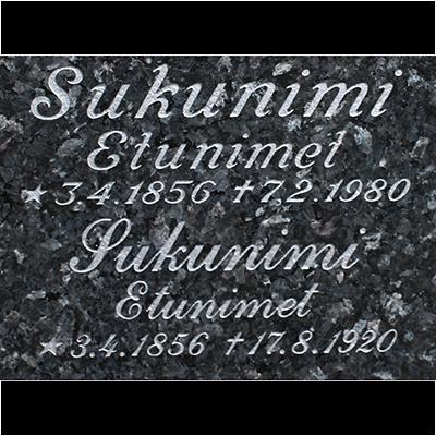 hautakivien kaiverrus hopeinen kirjain